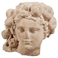 Head Sculpture, Italy, 17th century