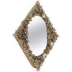 Diamond-Shaped Mirror by J+L Lobmeyr, Austria, 1970's