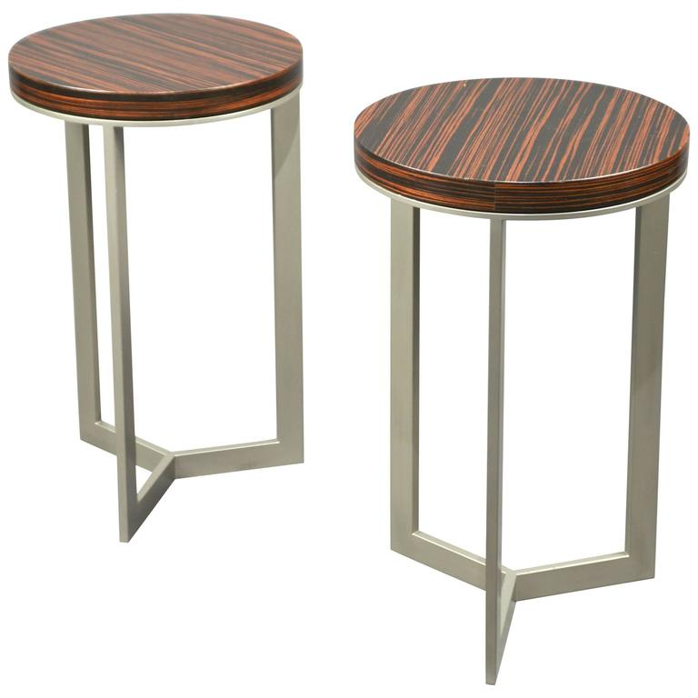 Pair of Side Tables, France, 1980's 1
