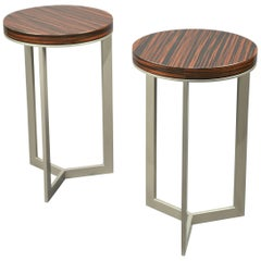 Pair of Side Tables, France, 1980's