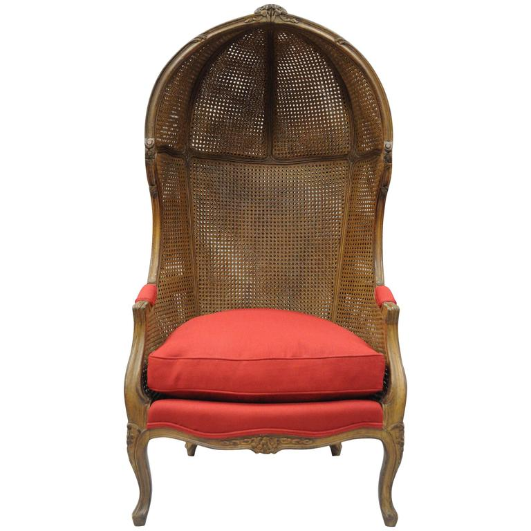 Vintage French Country Louis XV Style Double Cane Italian Canopy Porter Chair For Sale  sc 1 st  1stDibs & Vintage French Country Louis XV Style Double Cane Italian Canopy ...