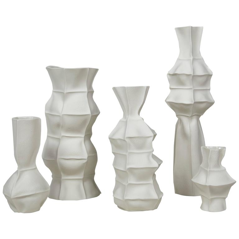 Set of Five Kawa Vases by Luft Tanaka, Made to Order