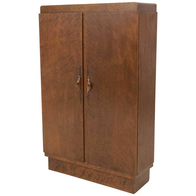 stunning art deco amsterdam school armoire or cabinet by 39 t woonhuys amsterdam for sale at 1stdibs. Black Bedroom Furniture Sets. Home Design Ideas