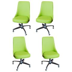 Set of Vintage Chromcraft Dining Chairs in Apple Green Vinyl