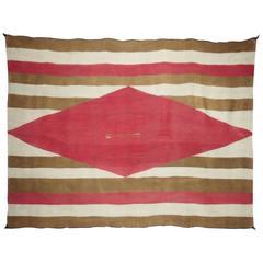 Navajo Chiefs Blanket Motif Rug, circa 1870