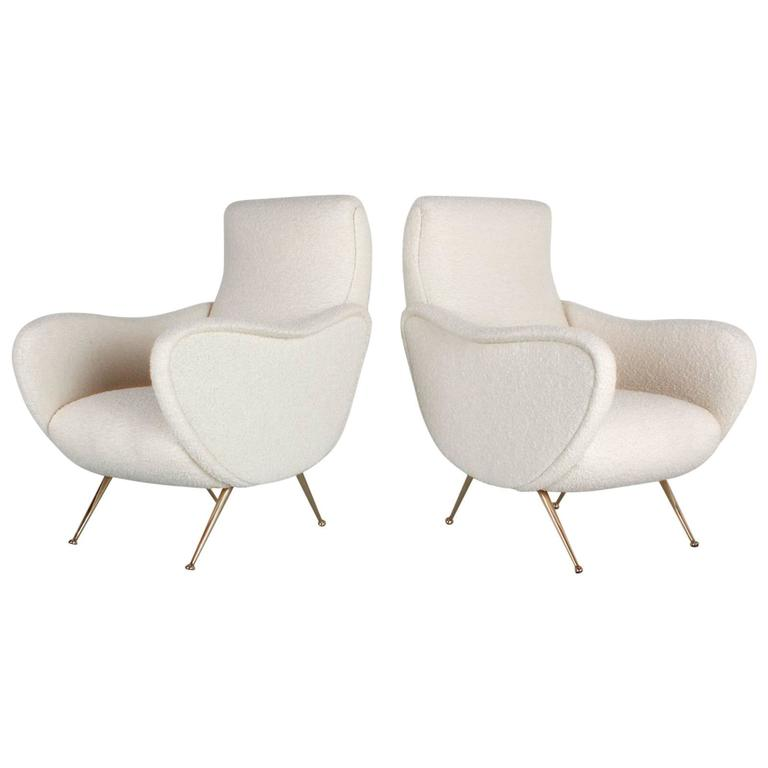 Pair of Italian Chairs in the Style of Marco Zanuso For Sale