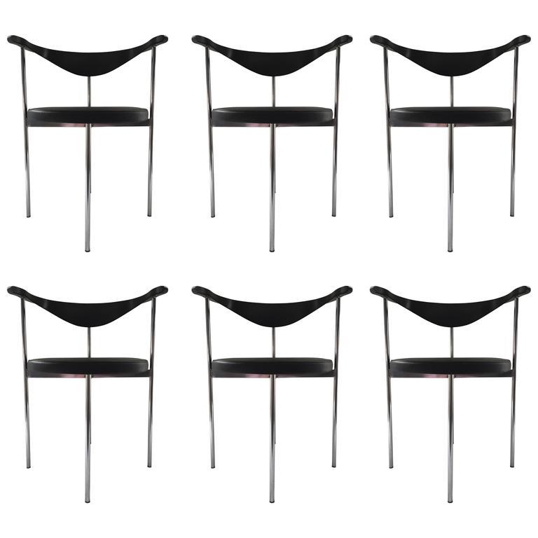 Fritz Hansen/Hans Wegner Frederick Sieck Designed Set of Six Dining/Office Chair