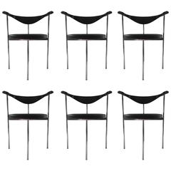 Fritz Hansen/Hans Wegner Frederick Sieck Designed Set of Six Dining/Office Chair