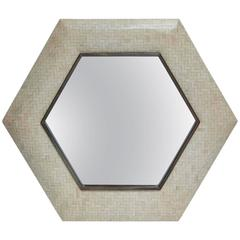Tessellated Bone and Bronze Mirror