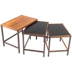 Danish Mid-Century Nesting Tables in Rosewood by Kurt Østervig