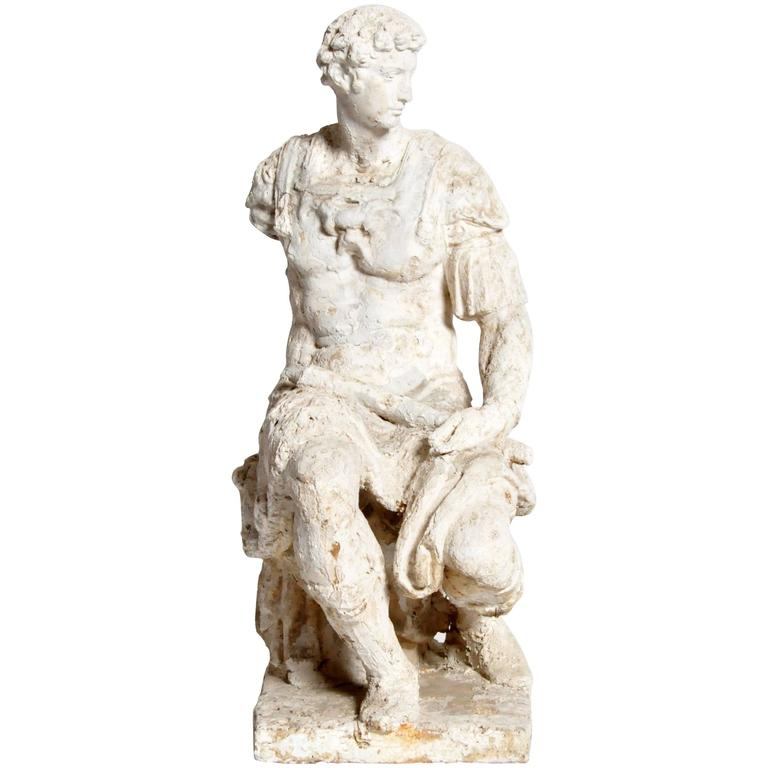 Garden Statue Of A Seated Roman Soldier For Sale At 1stdibs