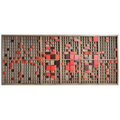 """Red, Black, Grey"" Printer's Tray Artwork by Douglas Van Tress"