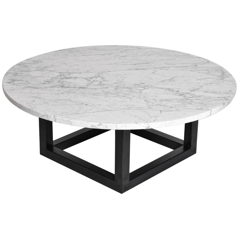 Round 3 Round Coffee Table Made Of Metal Cm ø80x23h: Round Marble Coffee Table For Sale At 1stdibs