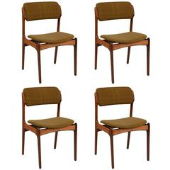 Set of Four Rosewood Dining Chairs by Erik Buck