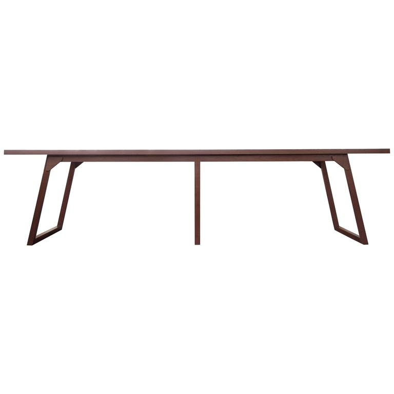 Familj Solid Wood Dining Table in Dark Walnut