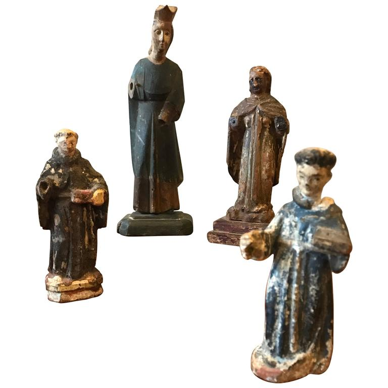18th Century Carved Santos Figures 1