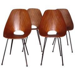 Italian Set of Four Chairs Medea by Vittorio Nobili for Tagliabue, Milano, 1955