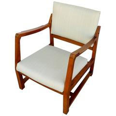 Walnut Tilt Armchair by Edward Wormley for Dunbar