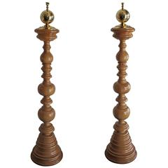 English Antique Wood Floor Lamps At 1stdibs