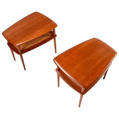 Mid-Century Modern Peter Hvidt Solid Teak End Tables for France & Sons