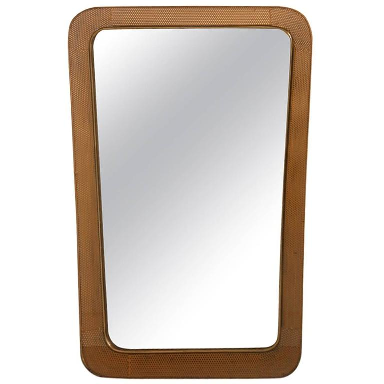 Mirror with Perforated Metal of 1950s, France