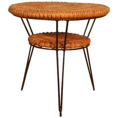 Minimal Original Mid-Century Italian Table Coffee Home Bamboo