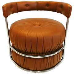 French Pouf Chairs, 1970s