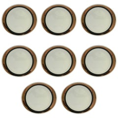 Gorgeous Set of Eight Block Porcelain Dinner Plates