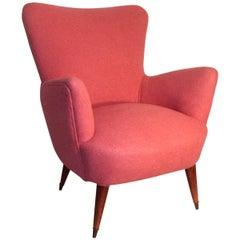 Armchair of 1950 Geometric Shapes Pink Mid-Century Italian Design