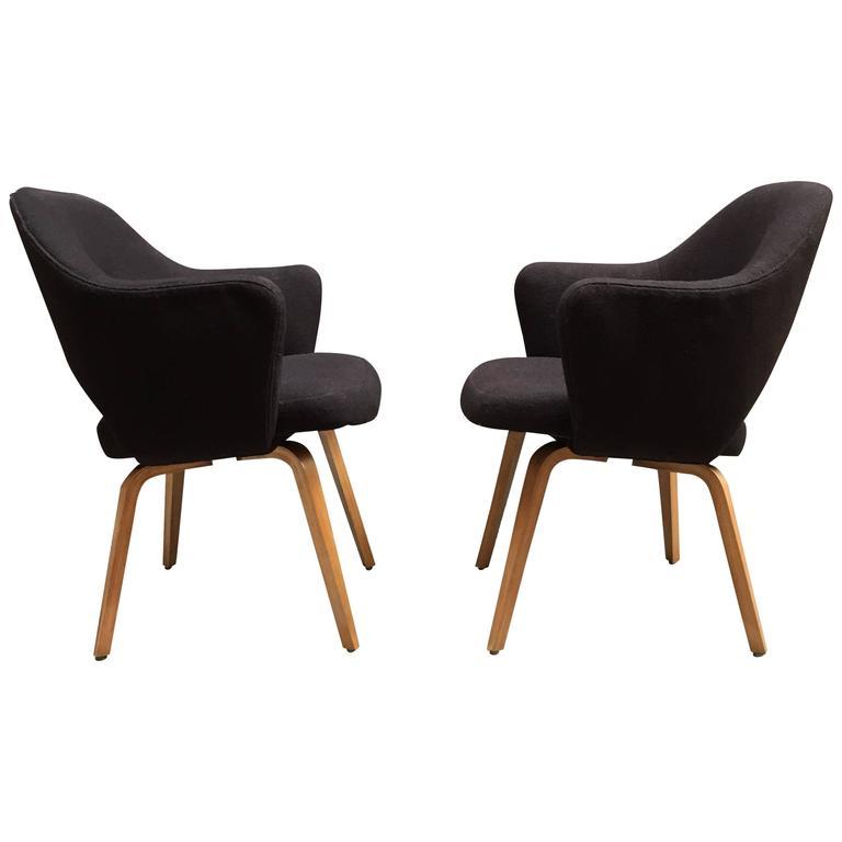 Pair of Early Eero Saarinen Executive Armchairs for Knoll