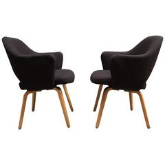 Pair of Early Eero Saarinen Executive Armchairs for Knoll