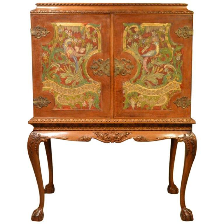Superb Edwardian Period Cocktail Cabinet on Stand For Sale