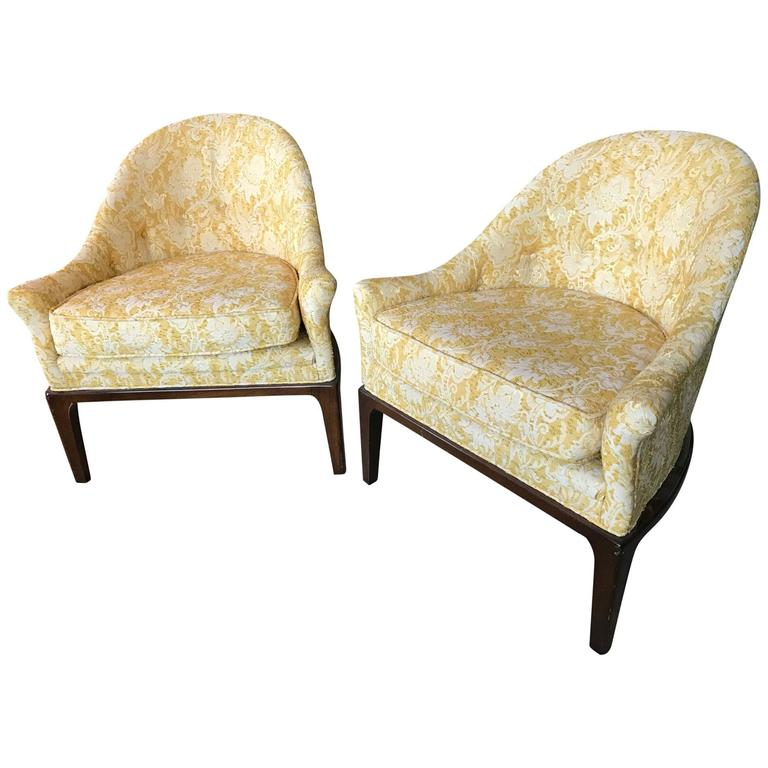 Pair of Elegant Tub Chairs by Henredon For Sale