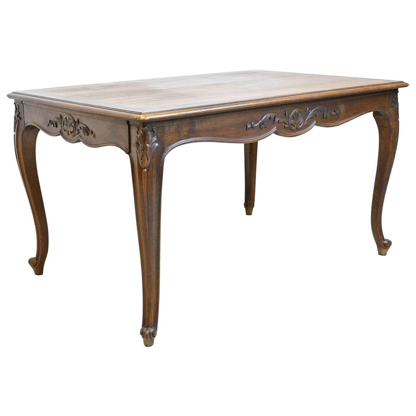 Late 19th Century Louis XV Style Extension Dining Table in Walnut