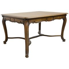 Louis XV Style French Extension Dining Table in Oak, circa 1900