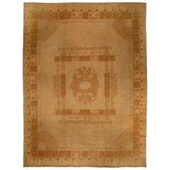 Vintage Viennese Secessionist Rug