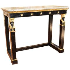 Chic Period Italian Carved and Gilt Neoclassical or Empire Console Table