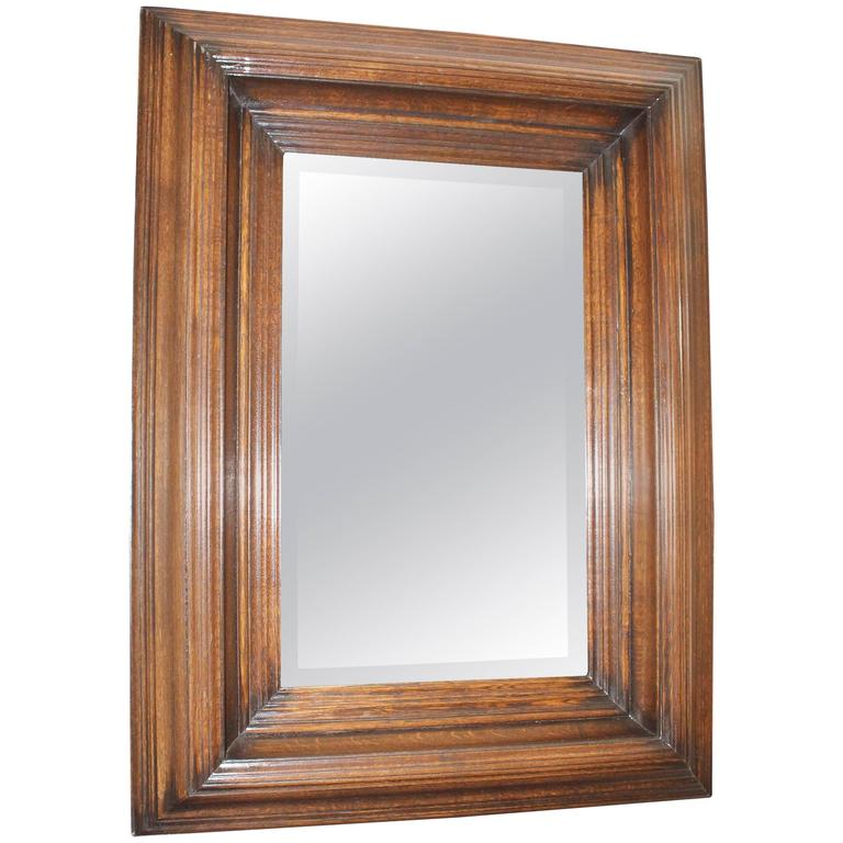 19th Century Oak Carved Mirror 1