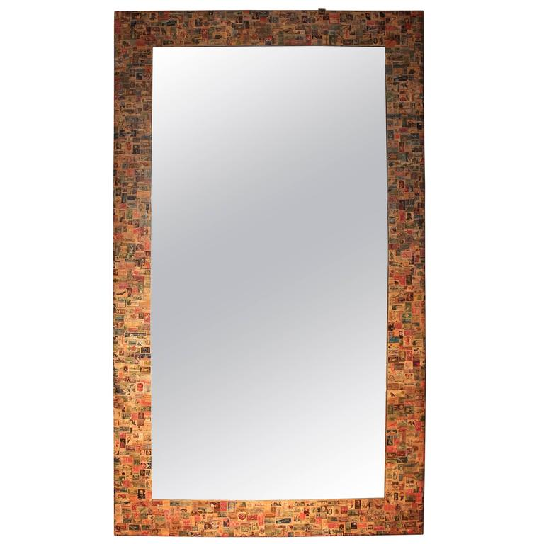 20th Century Postage Stamp Mirror For Sale