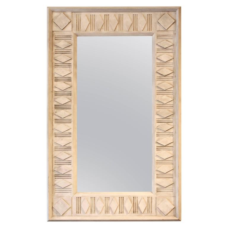 Rectangle Painted Architectural Mirror For Sale
