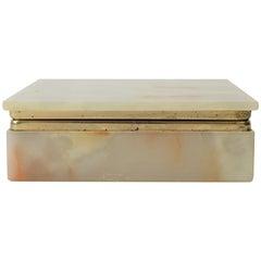Modern Italian Onyx Marble Jewelry Box