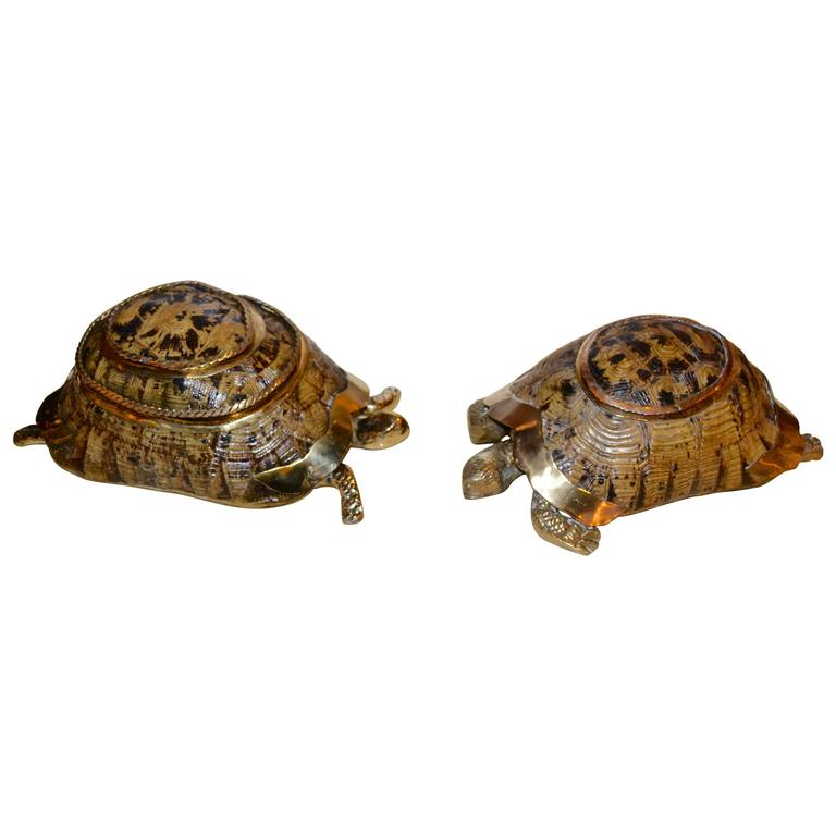 1970s Brass Turtle Boxes at 1stdibs