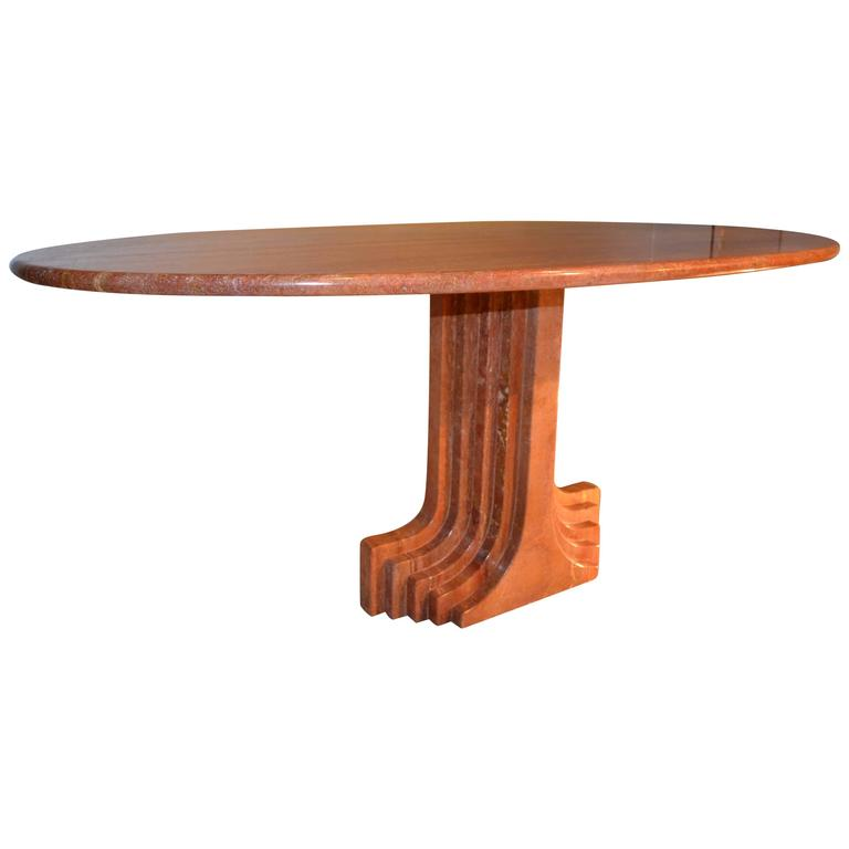 1970s Scarpa Marble Table at 1stdibs