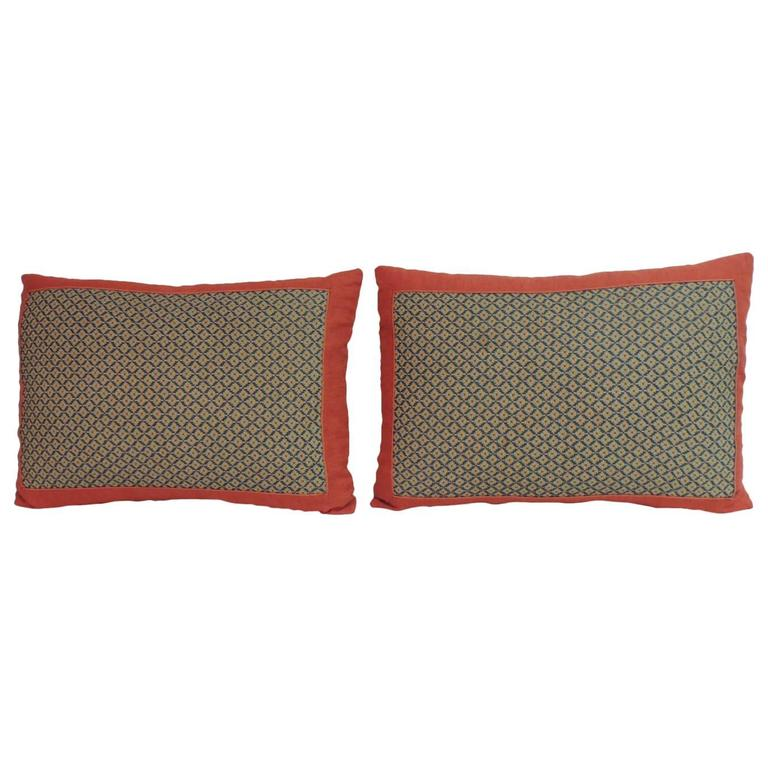 Pair of 19th Century Embroidered Persian Decorative Pillows For Sale