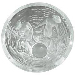 Lalique Crystal Vase, Art Deco, Signed, France