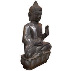 Chinese Sitting Buddha in Bluestone