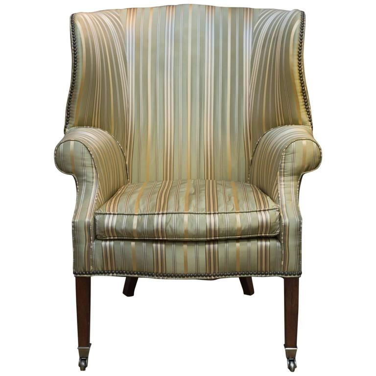 1960s Missoni Wingback Chair At 1stdibs: Vintage Wing Chair In Silk At 1stdibs