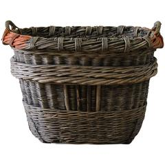 19th Century French Champagne Harvest Basket