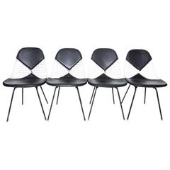Four Herman Miller Eames Dkx-2 Bikini Chairs