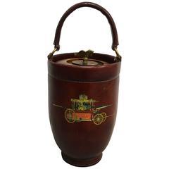 1950s Leather Papeete Fire Ice bucket